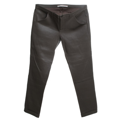 Dorothee Schumacher Leather pants in taupe