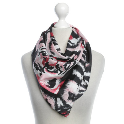 Roberto Cavalli Silk scarf with pattern