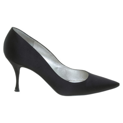 D&G Satin-Pumps in Schwarz