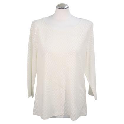 Calvin Klein Top met pailletten in het wit