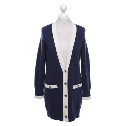 Chanel Cardigan in blue / cream