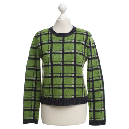 Marc by Marc Jacobs Knitted sweater with plaid pattern