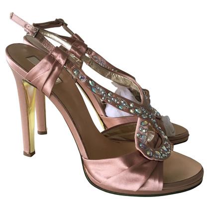 Roberto Cavalli Sandals with gemstone trimming