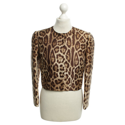 Dolce & Gabbana Jacke mit Animal-Print