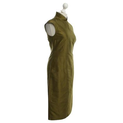 René Lezard zijden jurk in groen