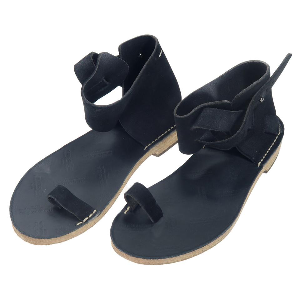 maison martin margiela sandalen in schwarz second hand. Black Bedroom Furniture Sets. Home Design Ideas
