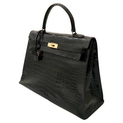 "Hermès ""Kelly Bag 35"" made of crocodile leather"