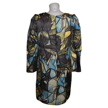 Marni silk dress and wool