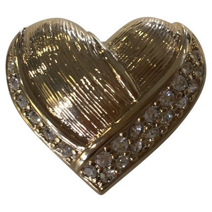 Christian Dior Heart brooch with rhinestones