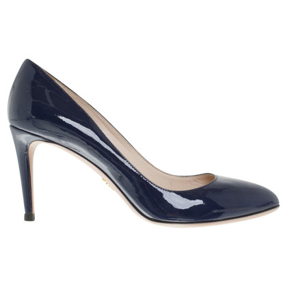 Prada pumps in dark blue