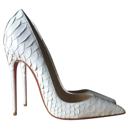 Christian Louboutin pumps Python leather