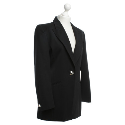 Akris Long Blazer in black