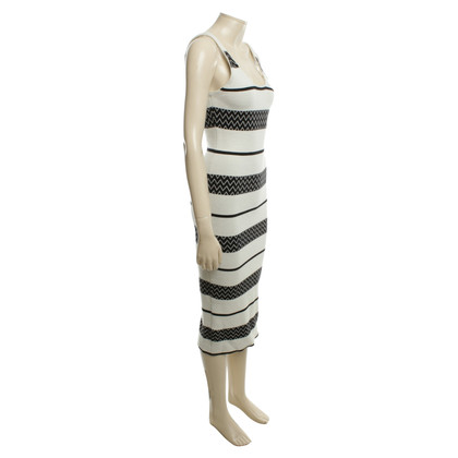 Alice + Olivia Dress with stripe pattern in black and white