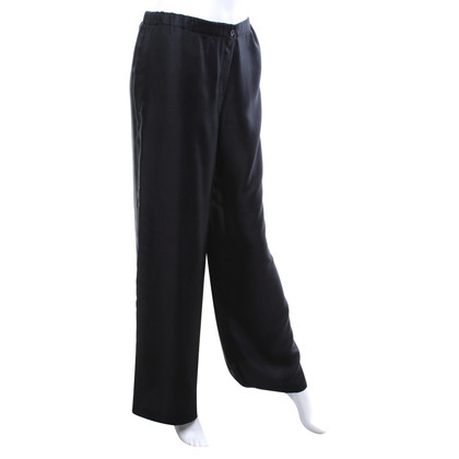 Calvin Klein Silk trousers in black