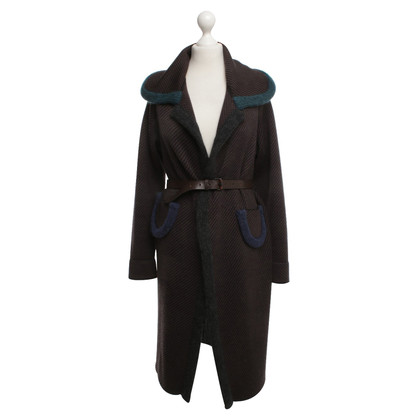 Odeeh Knitted coat with belt