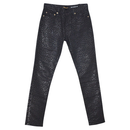 Saint Laurent Jeans mit Animal-Print