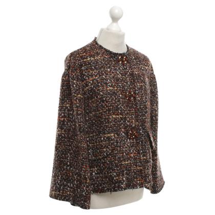 Dolce & Gabbana giacca di tweed in marrone / arancio