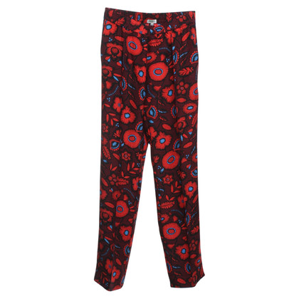 Kenzo Silk trousers with floral pattern