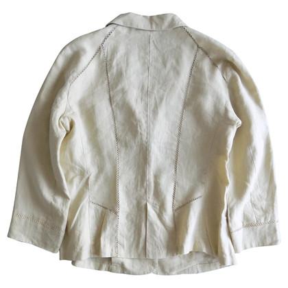 Armani Linen blazer with crochet details