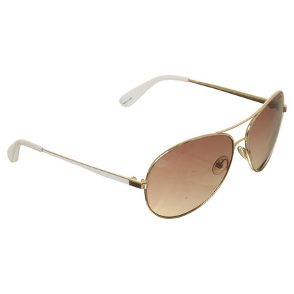Marc by Marc Jacobs Aviator sunglasses in white gold color