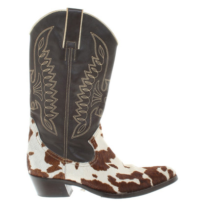 Dolce & Gabbana Cowboy boot with cowhide trim