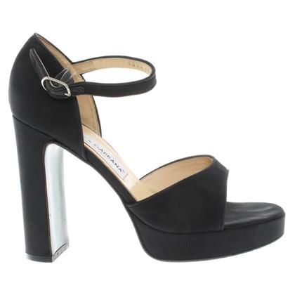 Dolce & Gabbana Black platform sandals