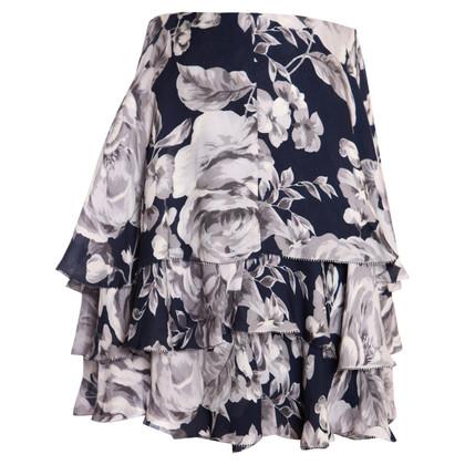 Other Designer Intermix - Blue Ruffle Skirt