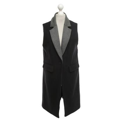 Iris & Ink Vest in dark blue / grey