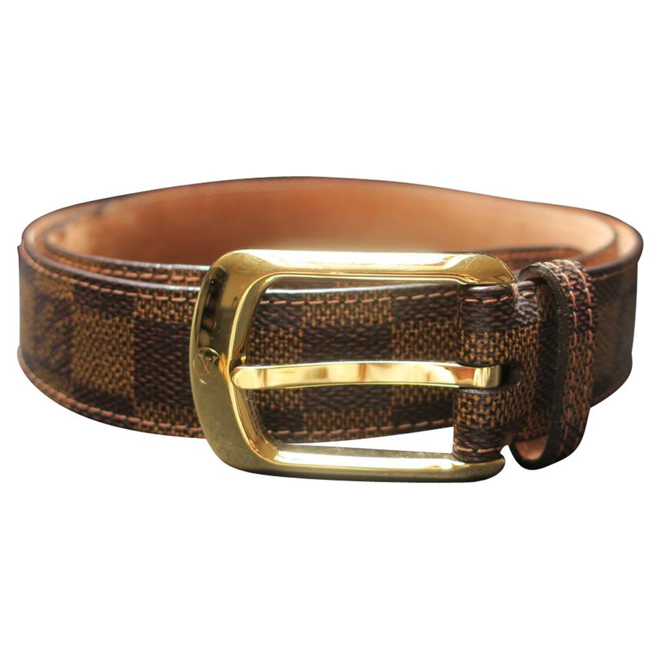louis vuitton belt from damier ebene canvas buy second hand louis vuitton belt from damier. Black Bedroom Furniture Sets. Home Design Ideas