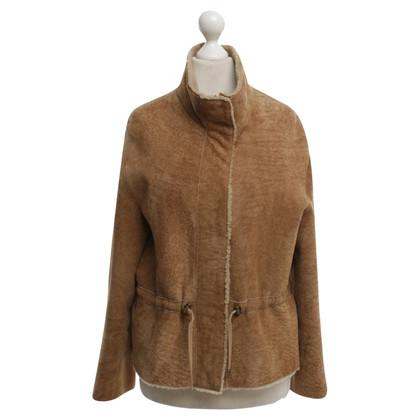 Akris Lambskin jacket in Ocker