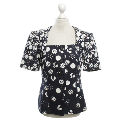Other Designer Louis Féraud blouse with pattern