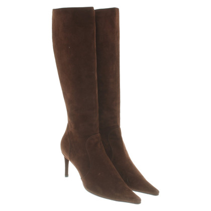 Dolce & Gabbana Suede boots in brown