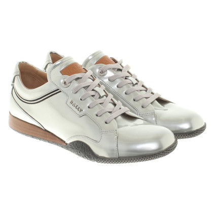 Bally Silver-colored lace-up shoes