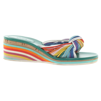 Chloé Mules in Multicolor