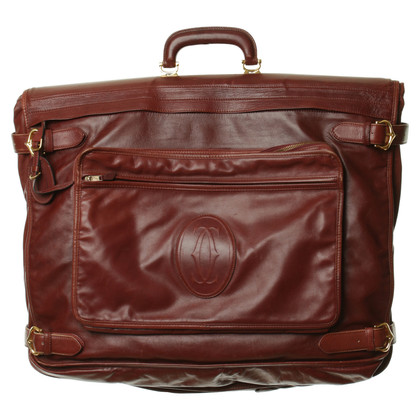 Cartier  Portabiti in pelle Bordeaux