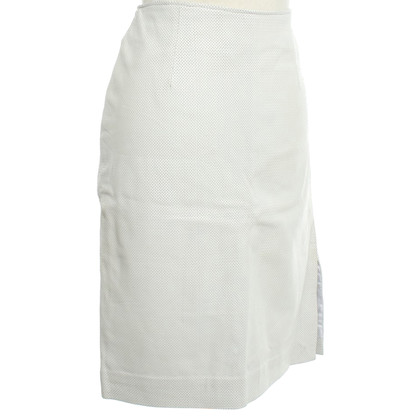 Versace White leather skirt