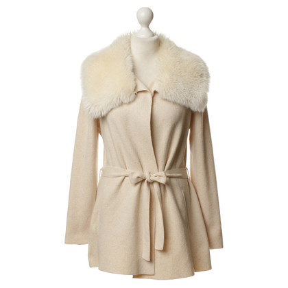 Escada Knit Jacket with faux fur collar