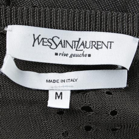 Stricktop Grau in Yves Yves Saint Laurent Laurent Saint Dunkelgrau UUX1Wn