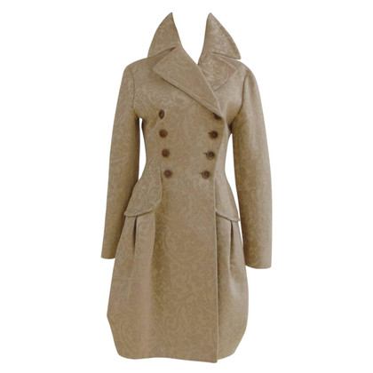 John Galliano John Galliano cream damasque coat