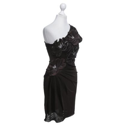Giorgio Armani Kleid mit floralen Applikationen
