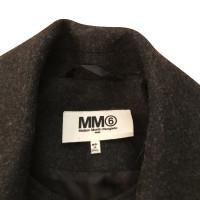 Maison Martin Margiela Manteau de laine grise