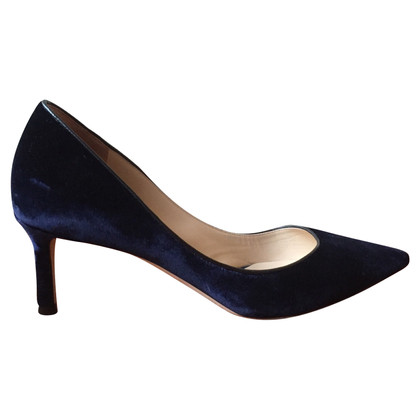 Jimmy Choo Velvet pumps Romy in donkerblauw