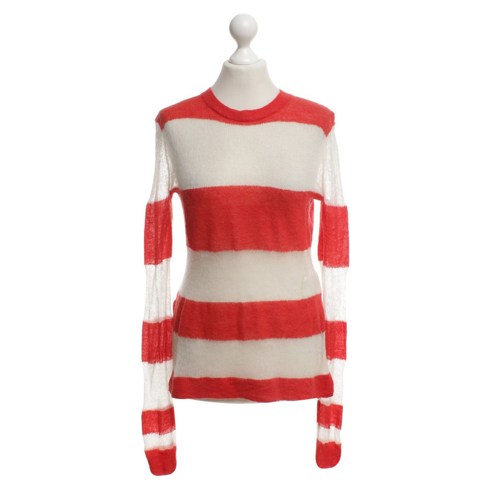 Acne Striped sweater in red / white - Buy Second hand Acne Striped ...
