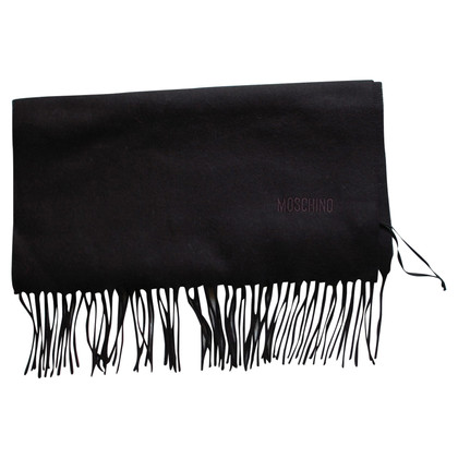 Moschino Black wool scarf