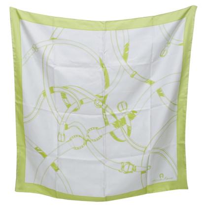 Aigner tissu en soie avec graphique illustré