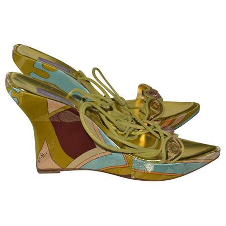Keilabsatz Emilio Pucci Pucci Emilio Muster Bunt mit Sandaletten qPBXRBvwS