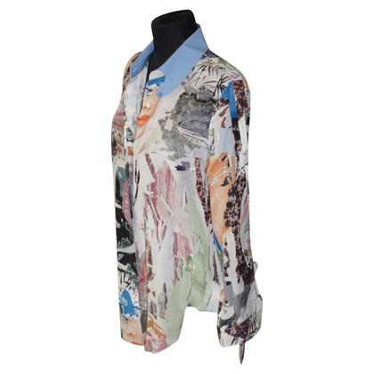 Carven Silk blouse with pattern