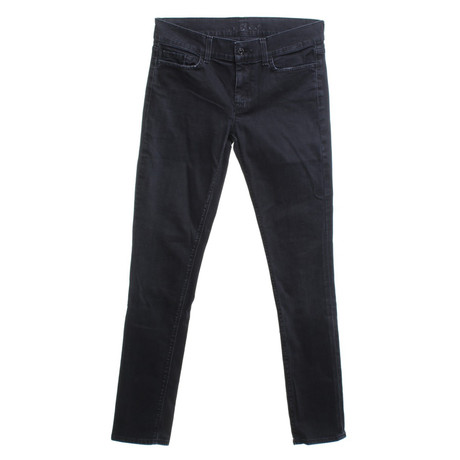 7 For All Mankind Hose in Schwarz Schwarz