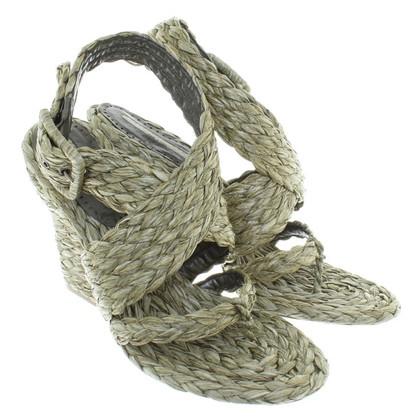 Stella McCartney Sandaletten aus Bast