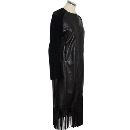 Joseph Leather jacket with fringes